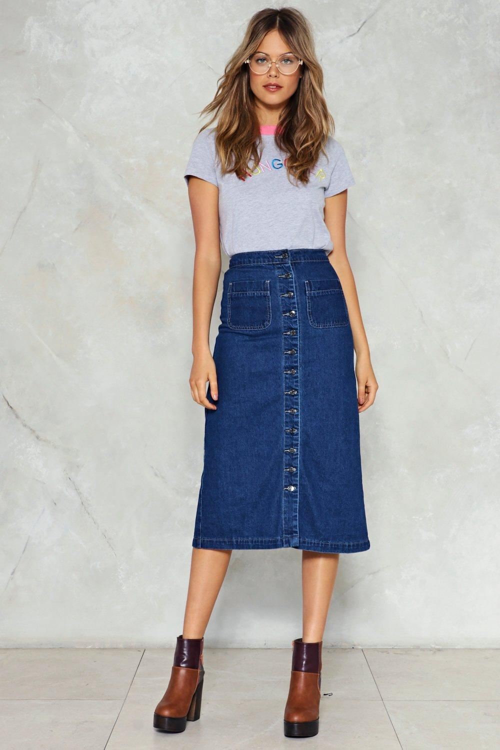 Get Down to It Denim Midi Skirt   Shop Clothes at Nasty Gal! 9635ca494f