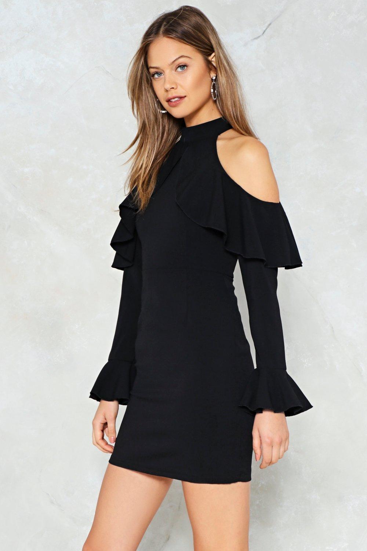 cfda75d52 Womens Black Safety Dance Cold Shoulder Dress