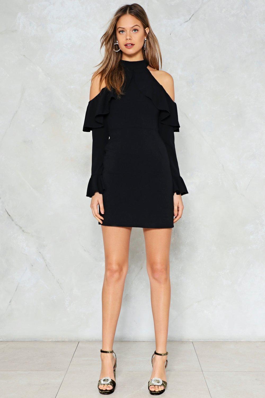 2f21605b1 Womens Black Safety Dance Cold Shoulder Dress.