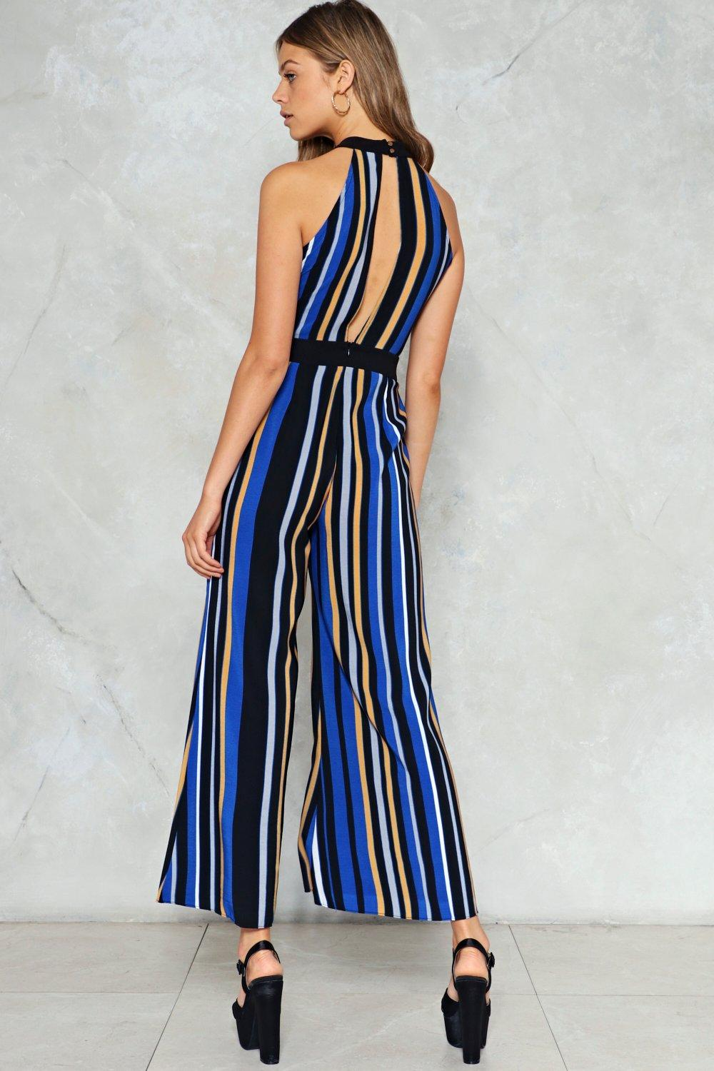 53692e0b811a Straight A s Stripe Jumpsuit. Hover to zoom