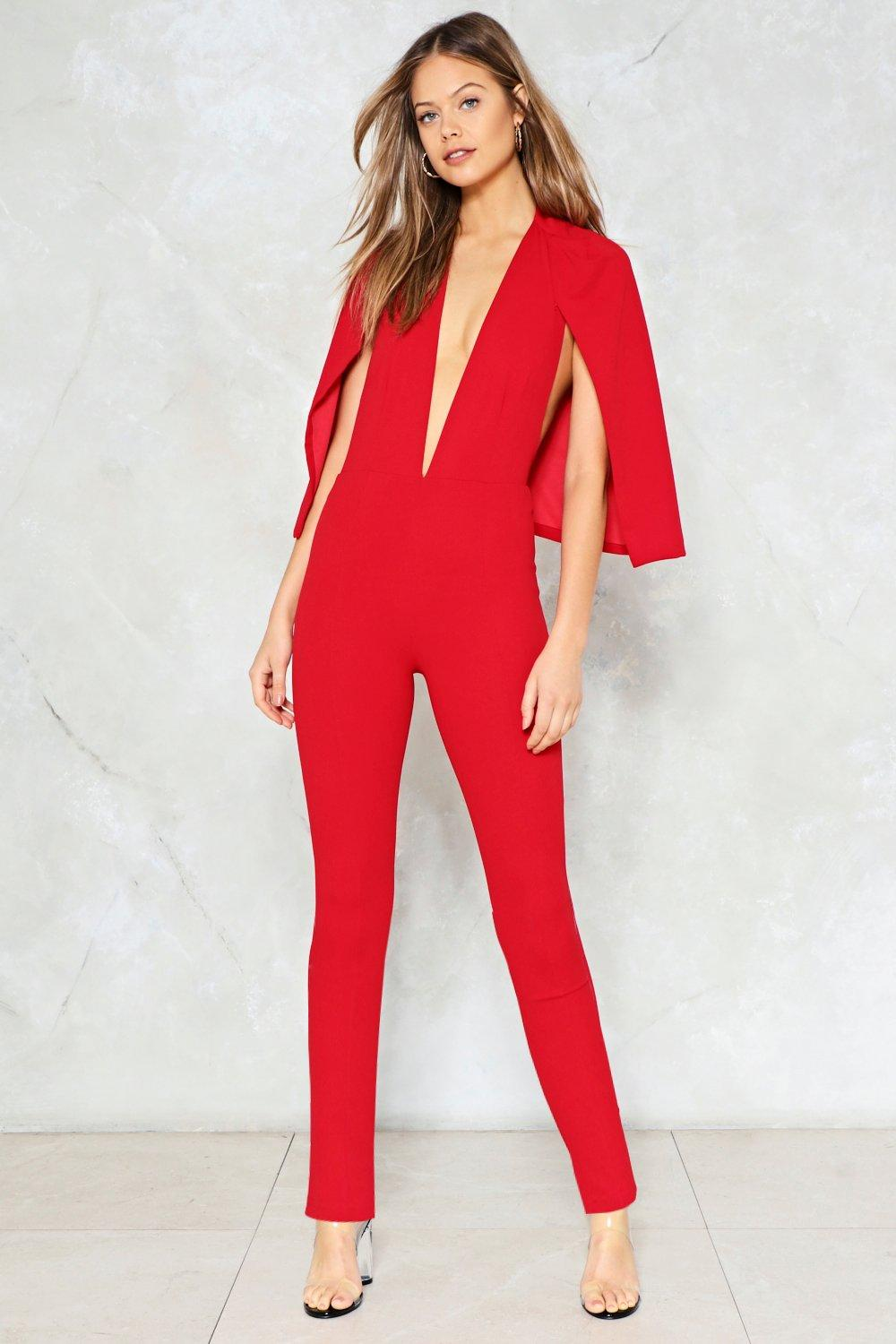 5ce2f3f158ad Cape It Together Jumpsuit. Hover to zoom
