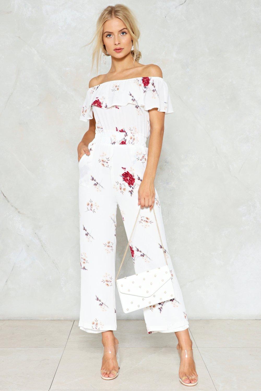 b33fb548551 No Romance Floral Jumpsuit