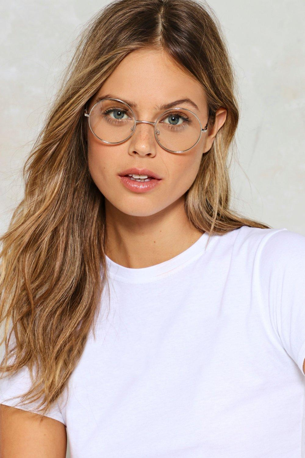 Oval and Done With Clear Glasses  942552c24