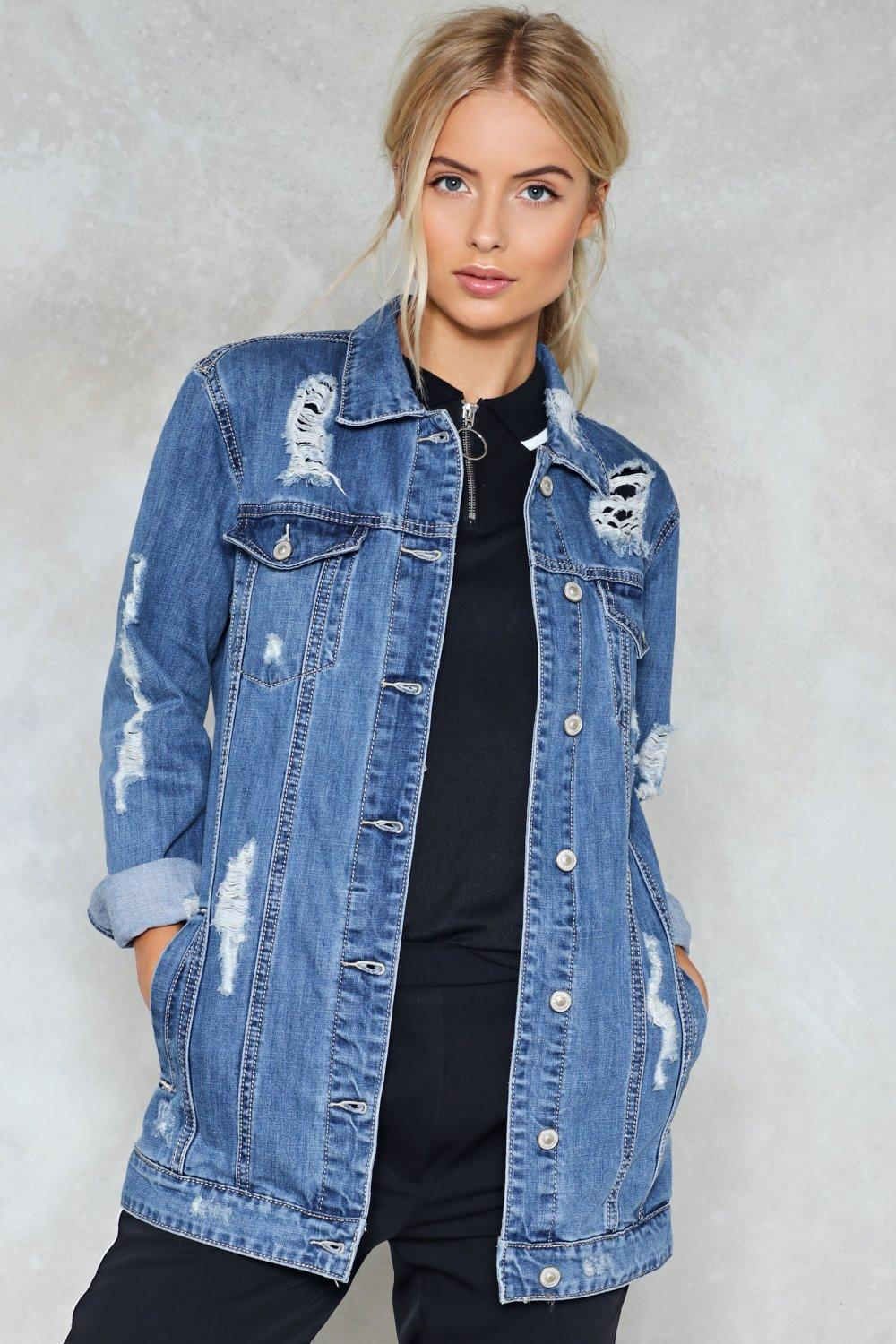 Slice of the Action Distressed Denim Jacket  b6f709f9a