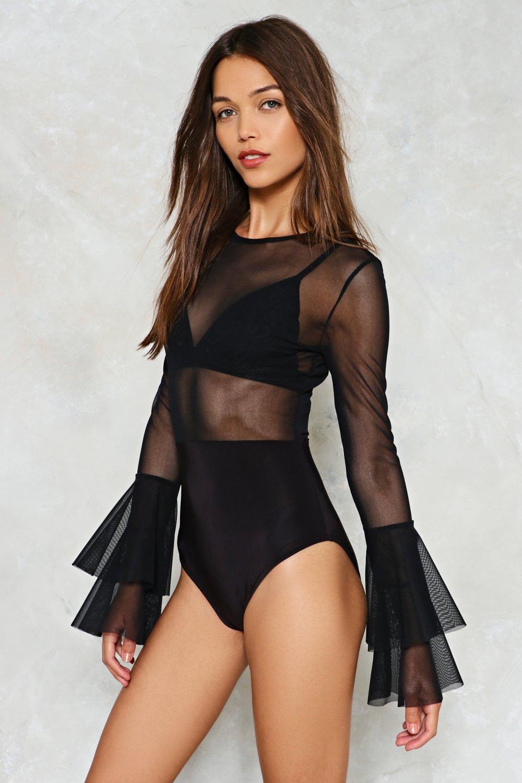 Glad to Sheer It Mesh Bodysuit  c61226adf