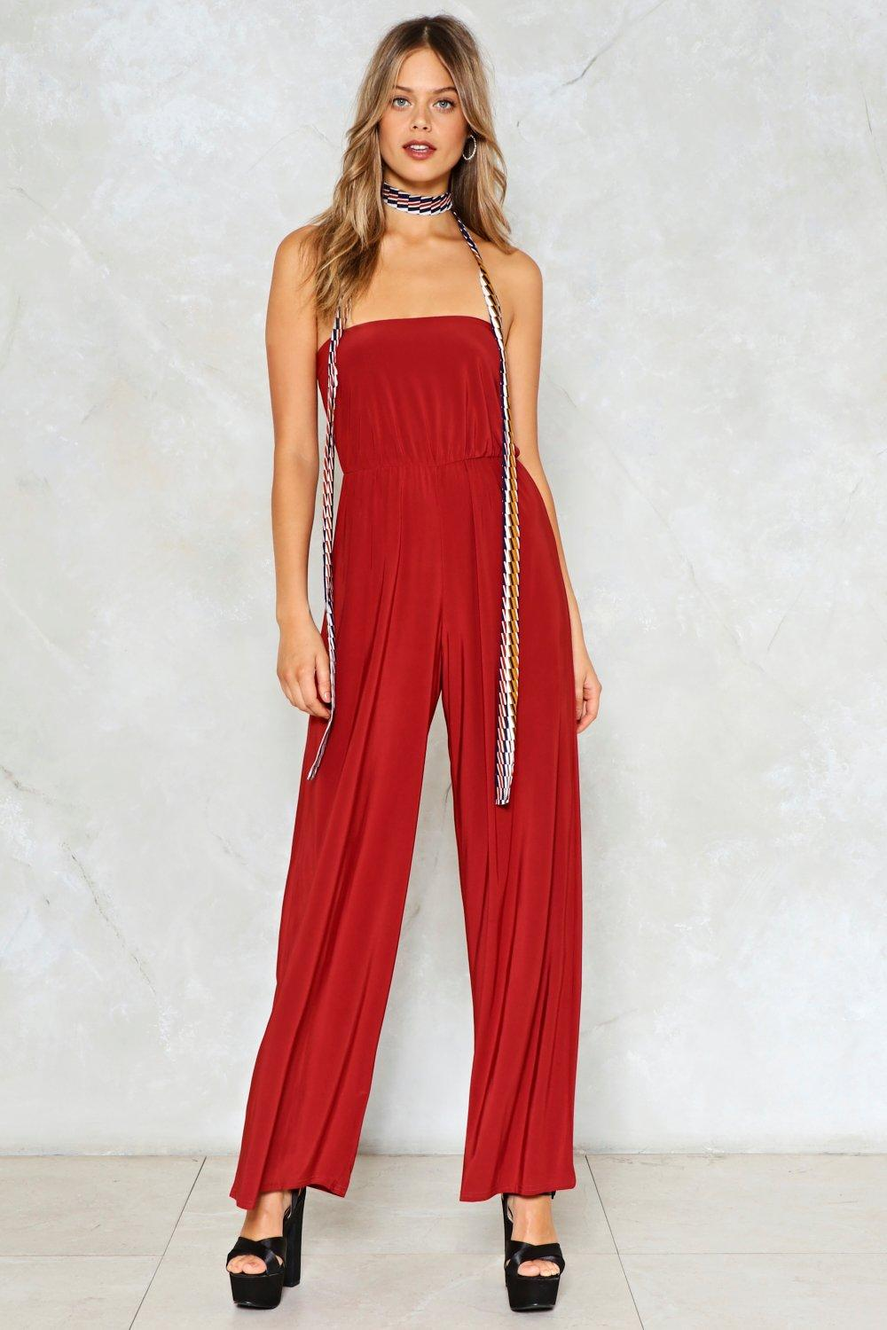 f038131f72a Jump Straight in Strapless Jumpsuit. Hover to zoom