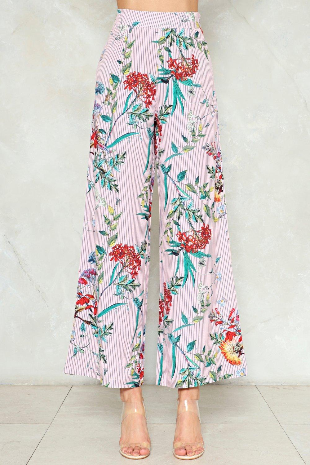 Flower Of The Flock Wide Leg Pants Shop Clothes At Nasty Gal