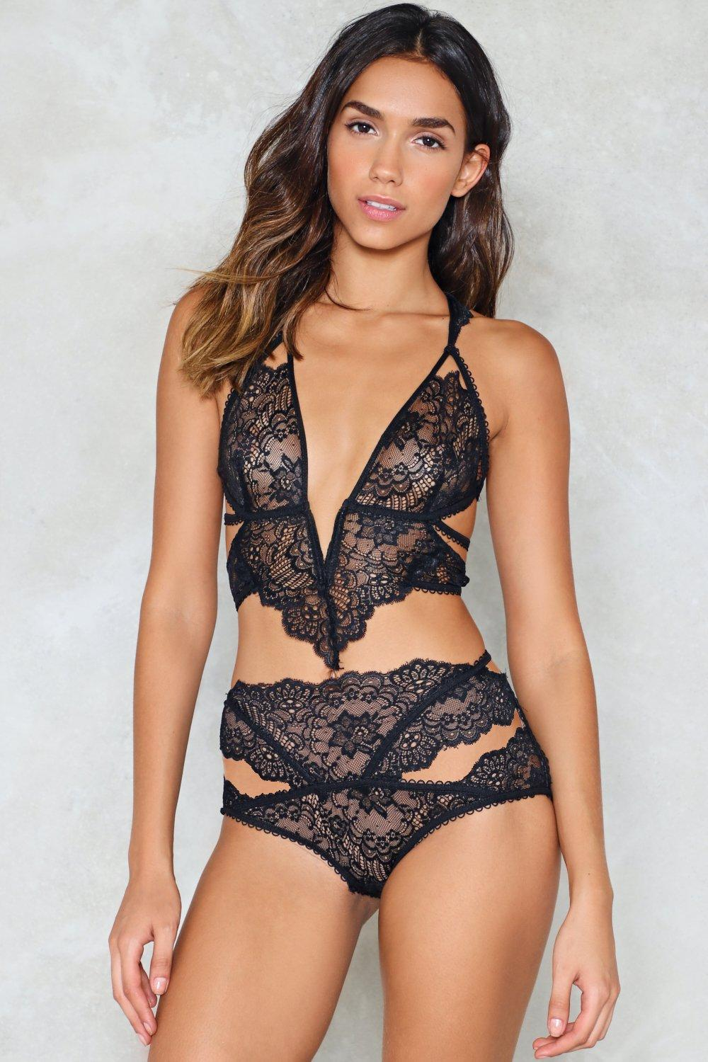 92812f137e At Last Lace Bralette and Panty Set