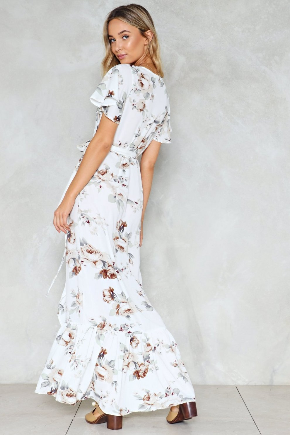 5edb52f206f6d Easy On the Ties Floral Dress   Shop Clothes at Nasty Gal!