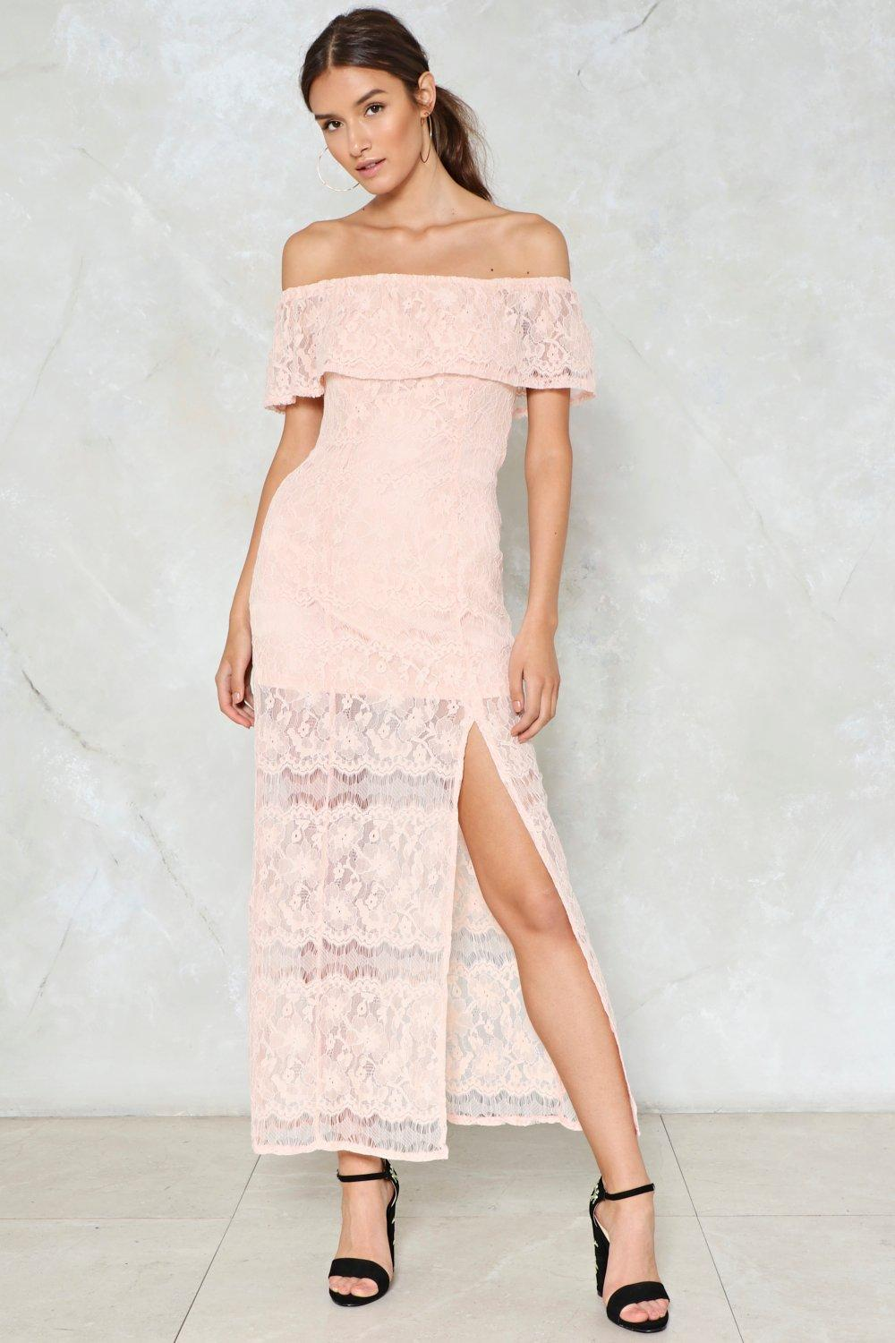 9db86d39e973 Slit the Mark Lace Dress | Shop Clothes at Nasty Gal!
