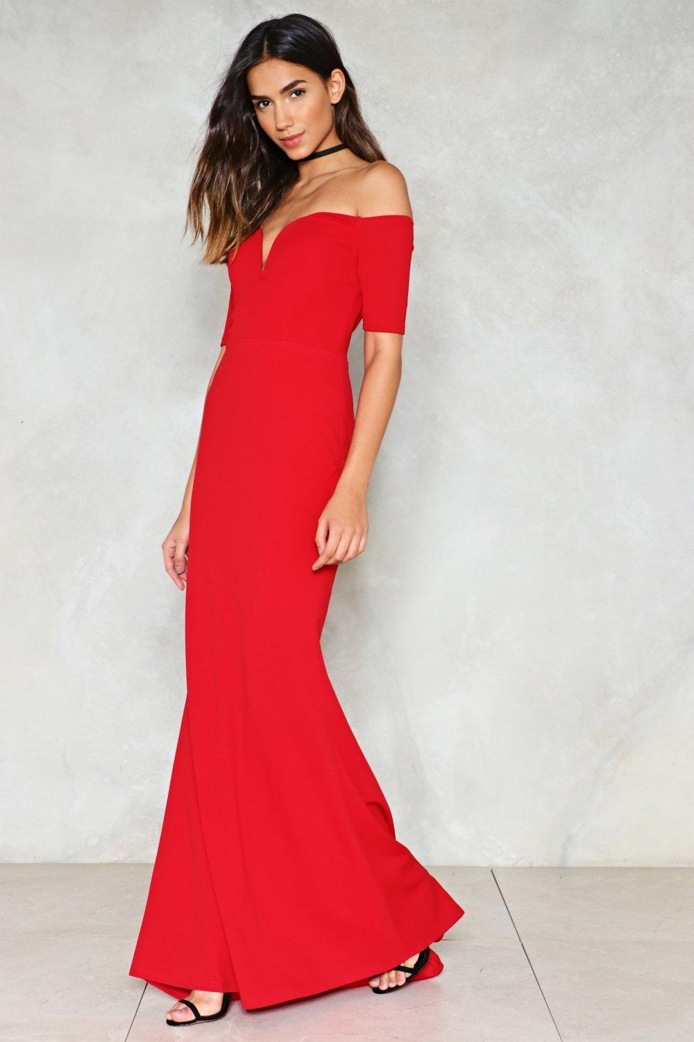 4dcff60179 Look Me in the Heart Off-the-Shoulder Dress | Shop Clothes at Nasty Gal!