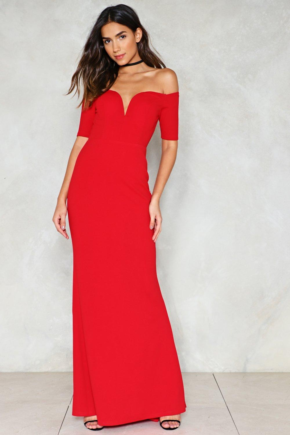 5b877155d0ca7 Look Me in the Heart Off-the-Shoulder Dress | Shop Clothes at Nasty ...