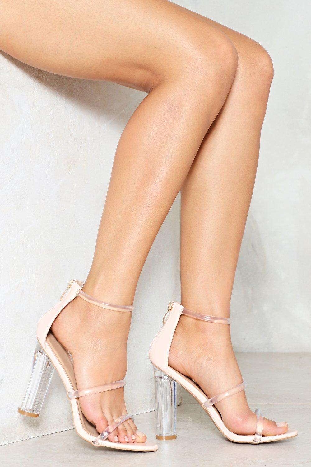 Open Invitation Lucite Heel