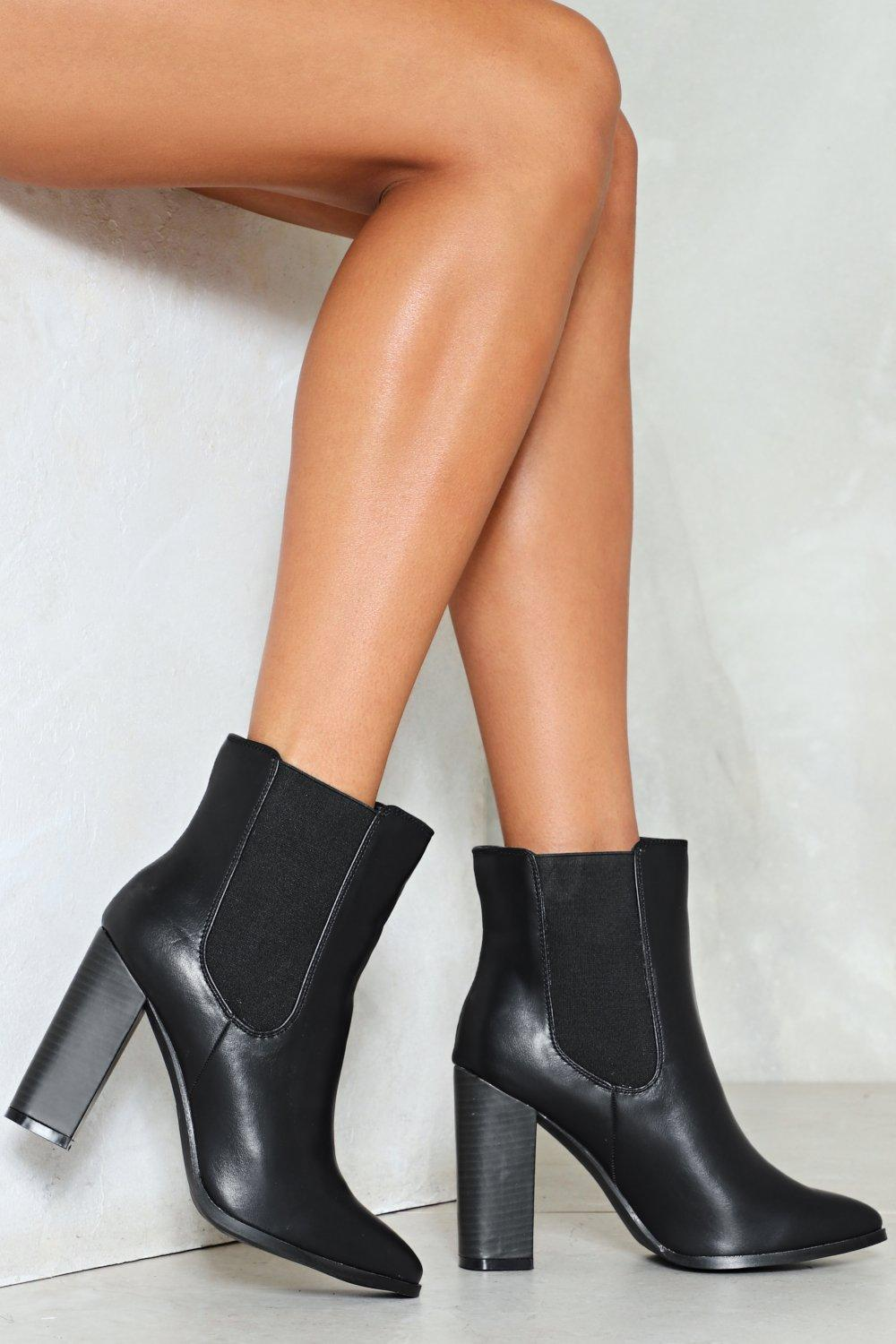 114b40ee7f41 Womens Black Into the Groove Ankle Boot. Hover to zoom