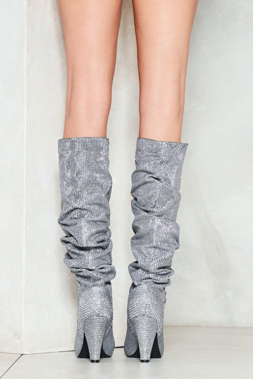 516b5f7c7c62 The Twist Glitter Boot | Shop Clothes at Nasty Gal!
