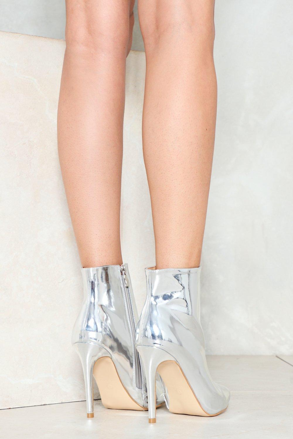 Pedal to the Metal Metallic Boot