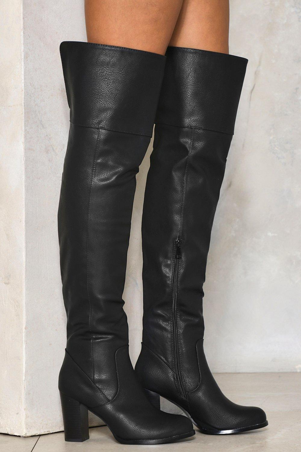 f332c9db7c5 To the Sky Over-the-Knee Faux Leather Boot | Shop Clothes at Nasty Gal!
