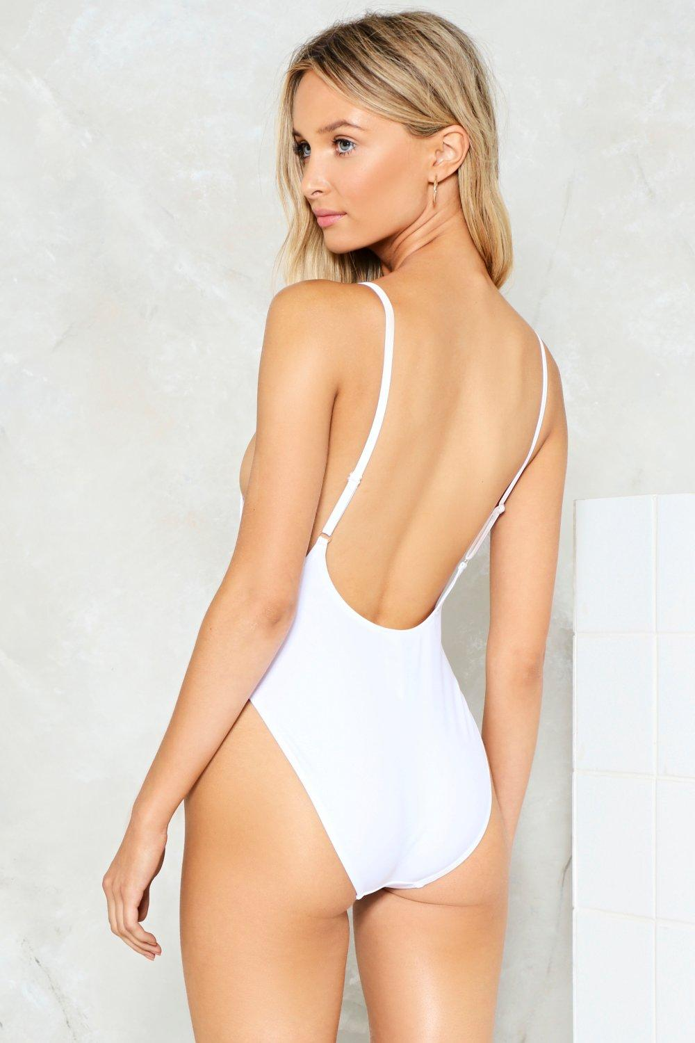 41a3a72487ddc Nasty Gal Alina High-Leg Swimsuit | Shop Clothes at Nasty Gal!