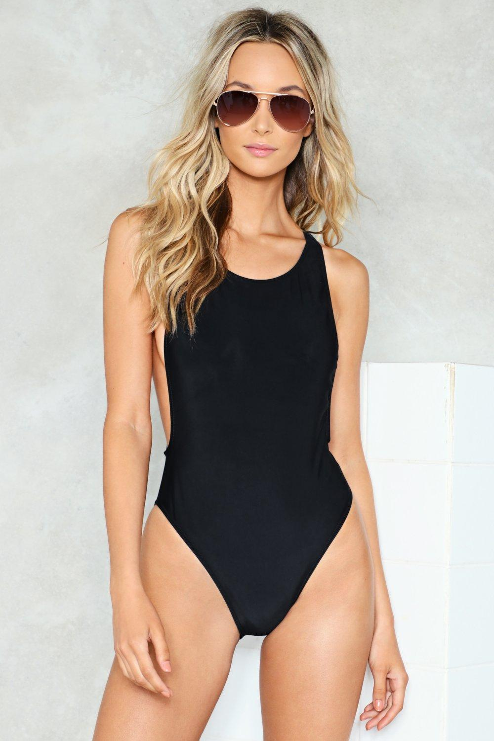 f3e28d8ab75e2 Nasty Gal Alina High-Neck Swimsuit | Shop Clothes at Nasty Gal!