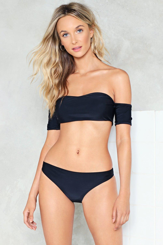 0b11664b0f930 Bare All Off-the-Shoulder Bikini Set