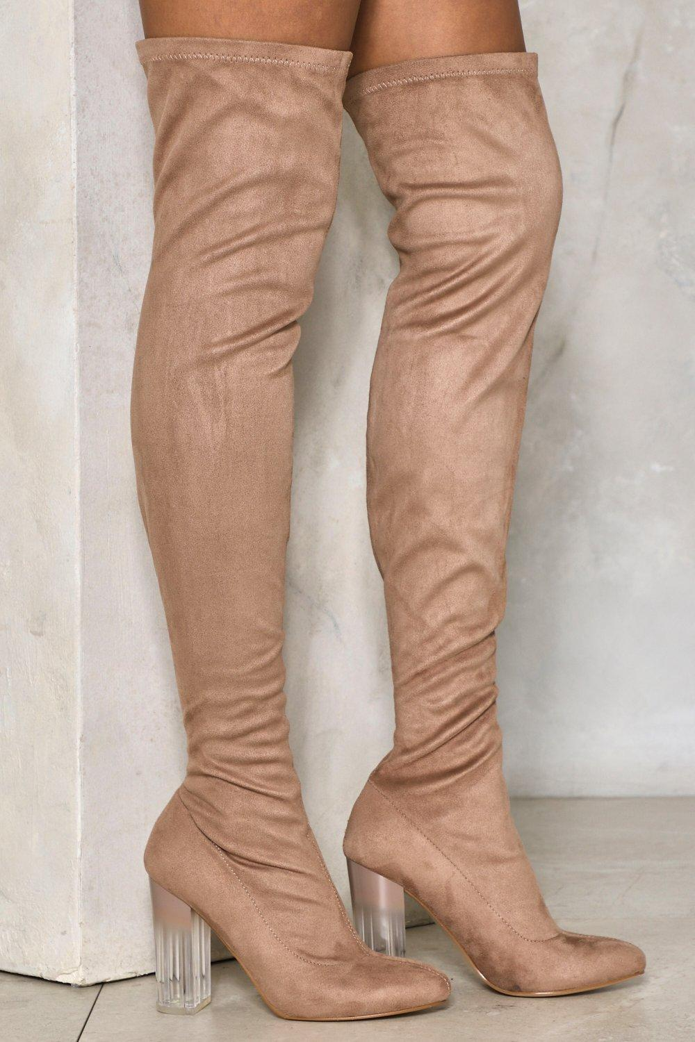 b9f5b31454 Steer Clear Over-the-Knee Boot | Shop Clothes at Nasty Gal!