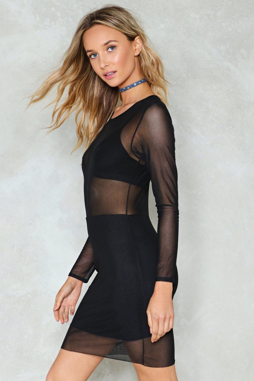 9940f3a8f1d Black Magic Mesh Dress