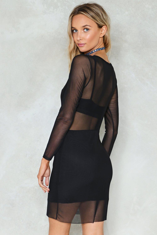 cfdbd200c67 Womens Black Black Magic Mesh Dress
