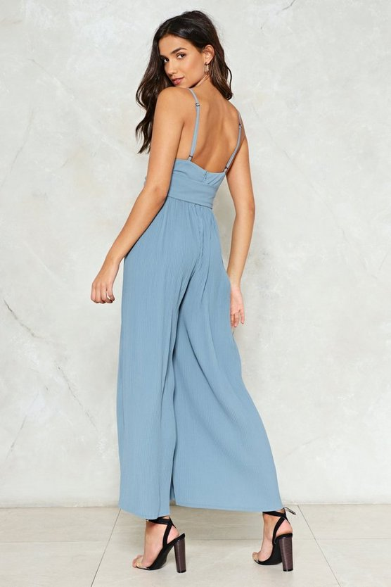 Girl Take A Pleat Jumpsuit by Nasty Gal