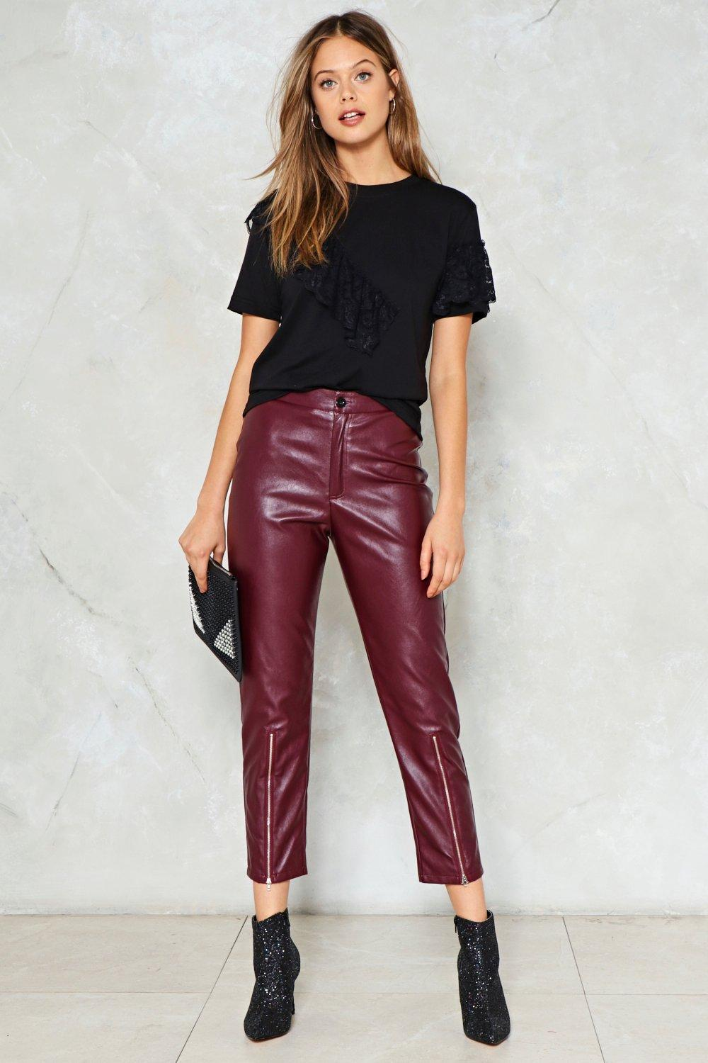 d36f2fde1772f9 Just Ride Faux Leather Pants | Shop Clothes at Nasty Gal!