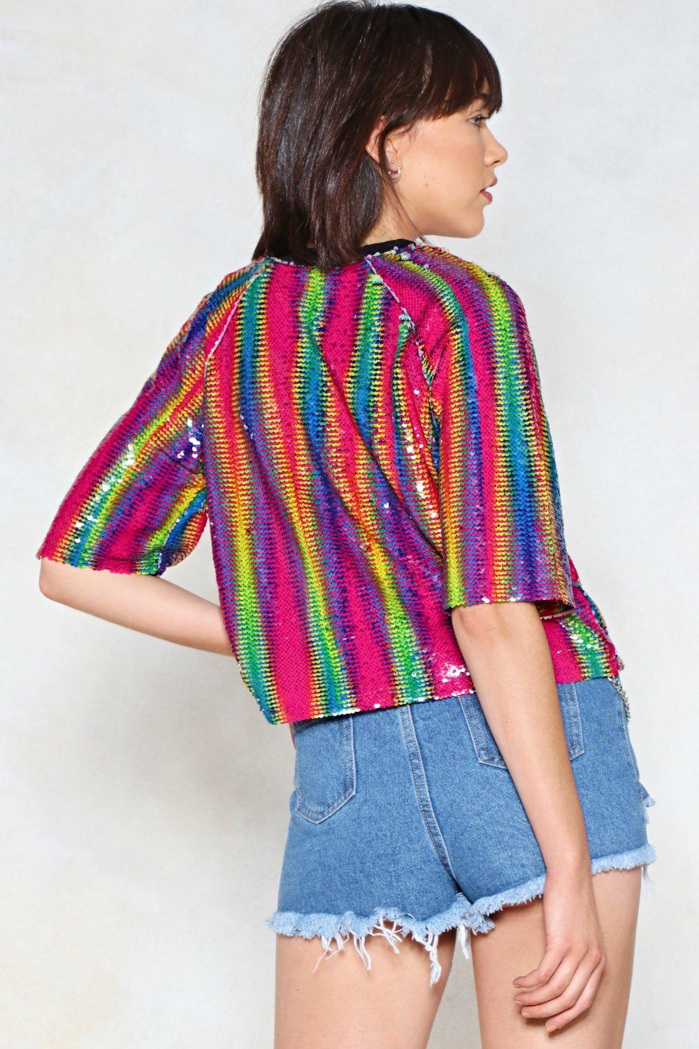 90f317b5c Over the Rainbow Sequin Top | Shop Clothes at Nasty Gal!