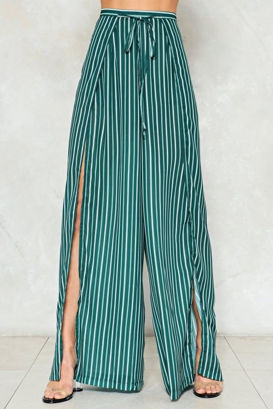 Hard Work Striped Pants by Nasty Gal