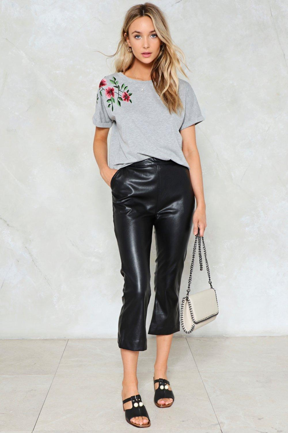 ad1025de Leaf Me Alone Embroidered Tee | Shop Clothes at Nasty Gal!