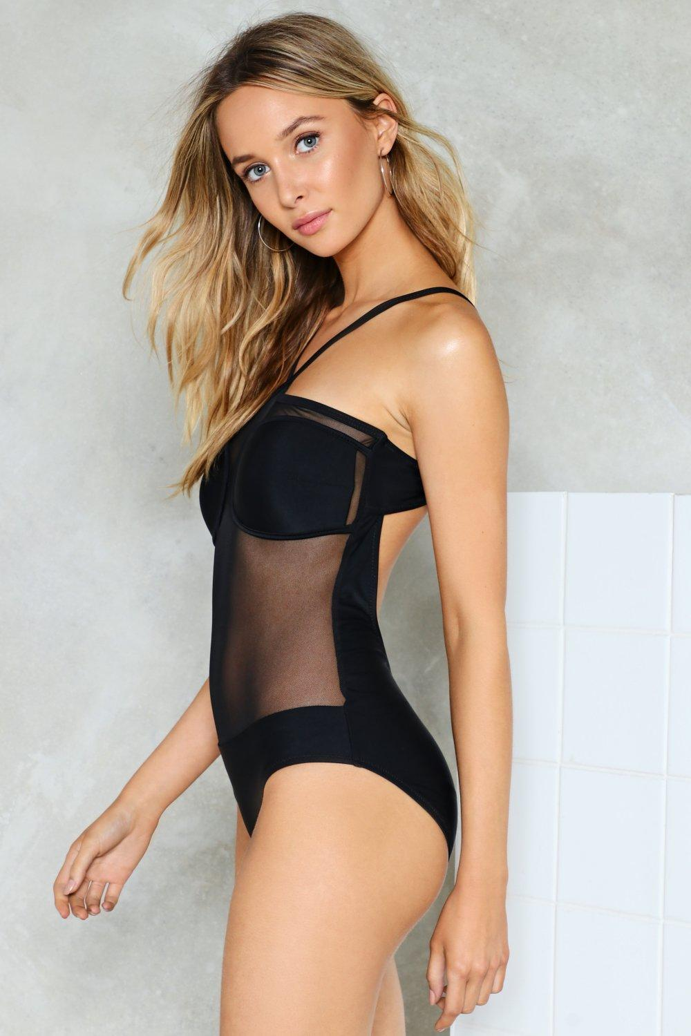 Meshin Around Sheer Swimsuit Shop Clothes At Nasty Gal