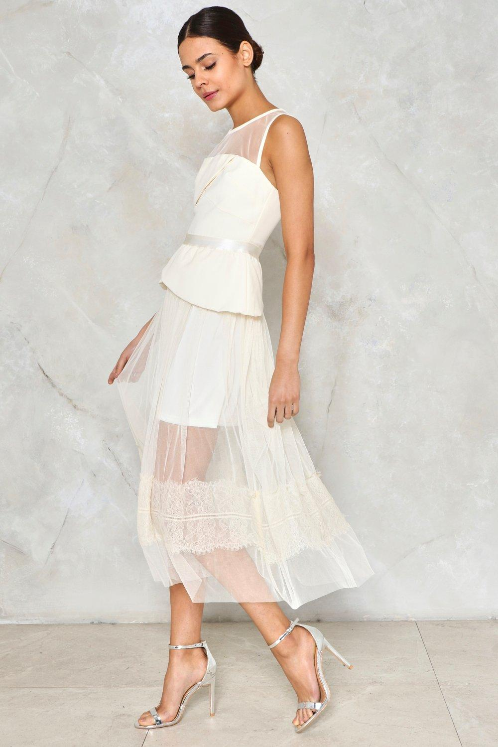69f8b5876c As Far as I Can See Sheer Tulle Dress | Shop Clothes at Nasty Gal!