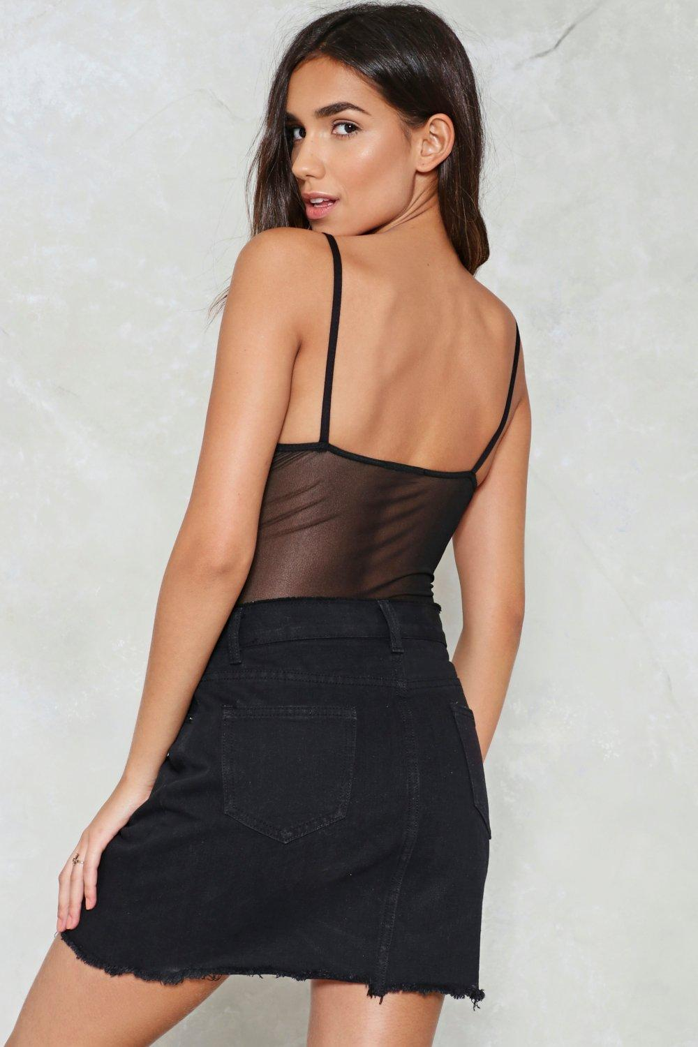 1020f10e4a Flower of the Flock Mesh Bodysuit. Hover to zoom