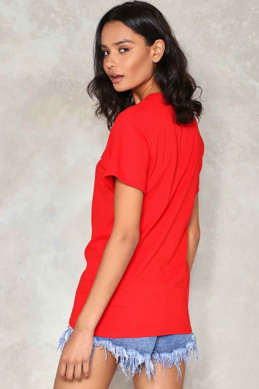 46a1266fc99 Womens Red Naughty Girl Tee