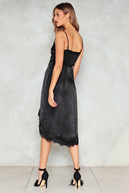 415640eafb Womens Black Class Act Satin Dress.