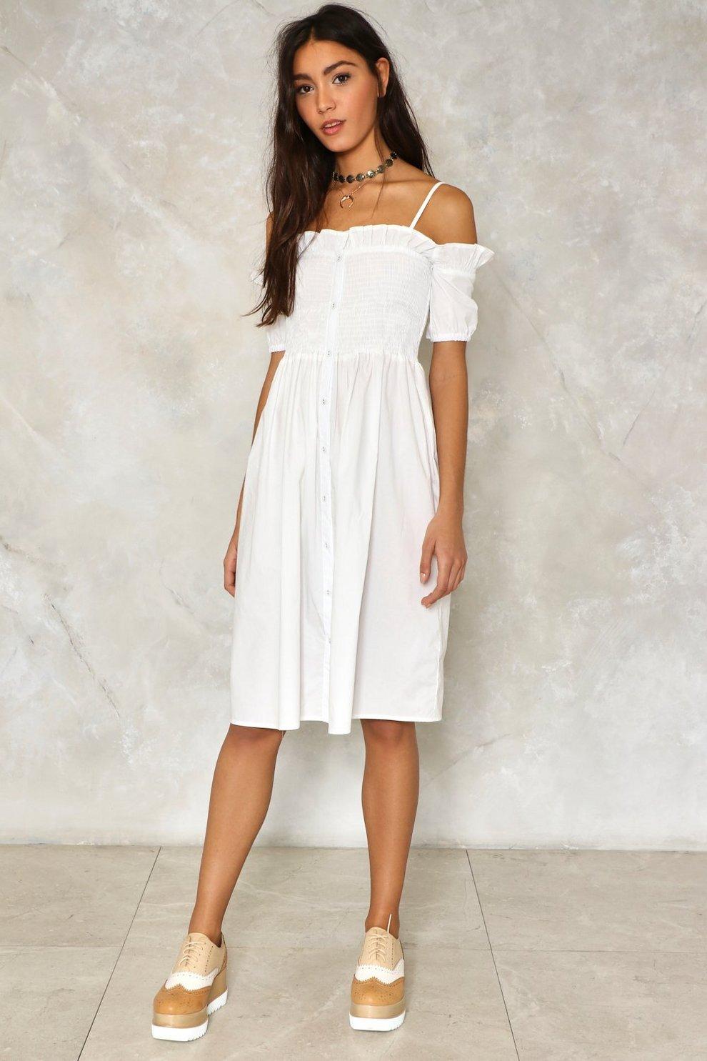 a0a4137c4e Front and Center Cold Shoulder Dress