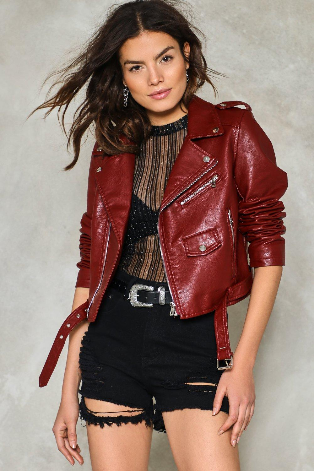 37cfaff6aeba Ride On Faux Leather Cropped Moto Jacket | Shop Clothes at Nasty Gal!