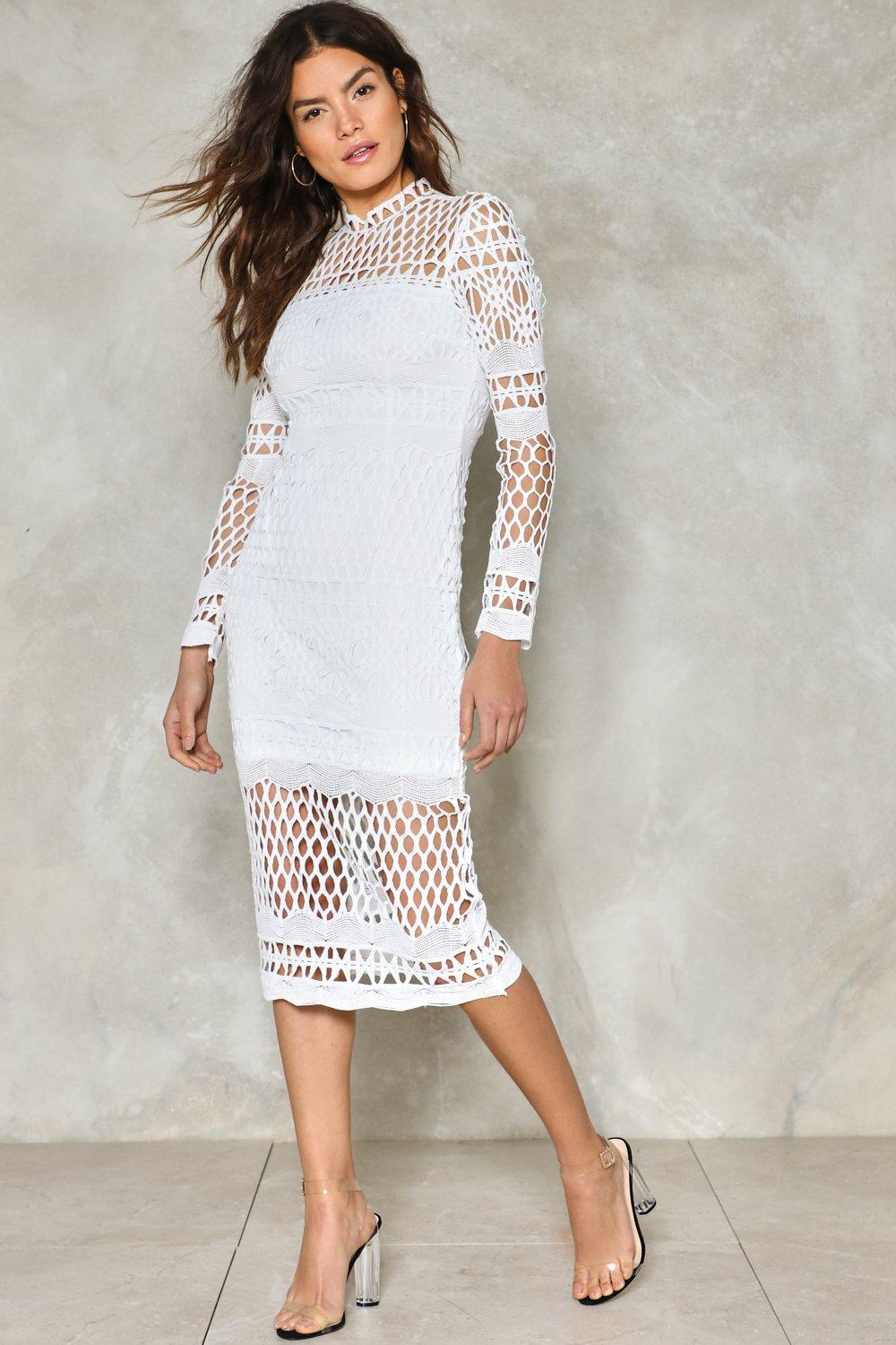 51f43910786dc Coast Along Crochet Midi Dress | Shop Clothes at Nasty Gal!
