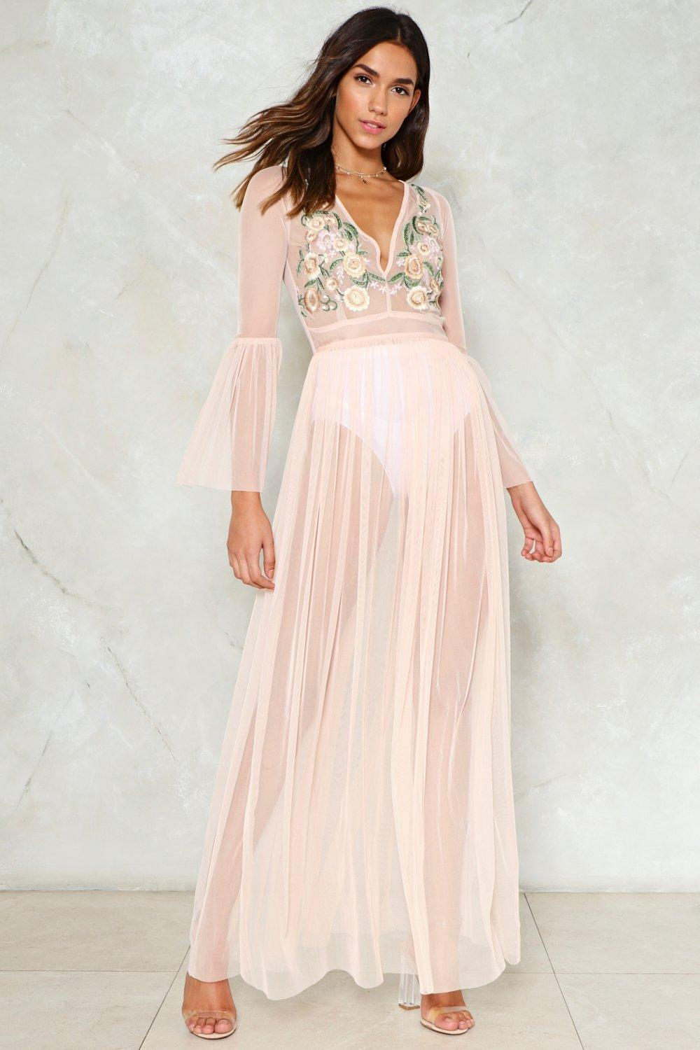 90ce2d012b Womens Blush Tulle Much is Never Enough Mesh Dress