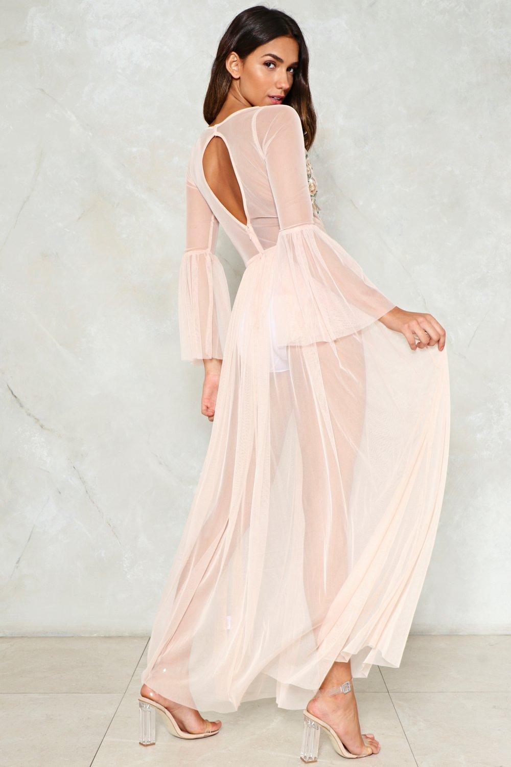 9f235328d9 Womens Blush Tulle Much is Never Enough Mesh Dress.