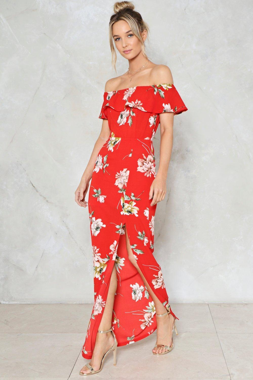 Like A Flower Floral Dress Nasty Gal