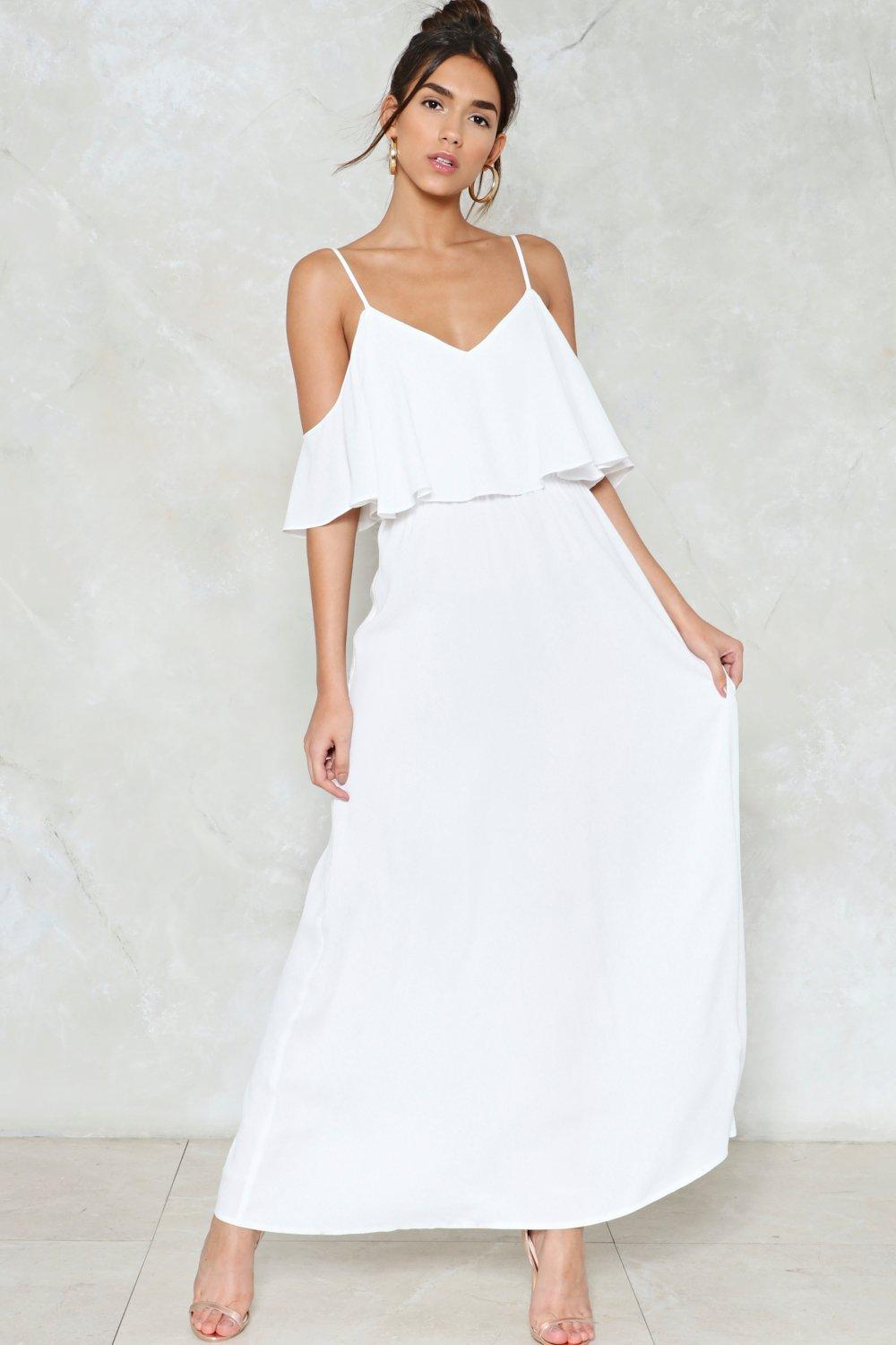 77bde08b04f84 Relaxed to the Maxi Cold Shoulder Dress | Shop Clothes at Nasty Gal!