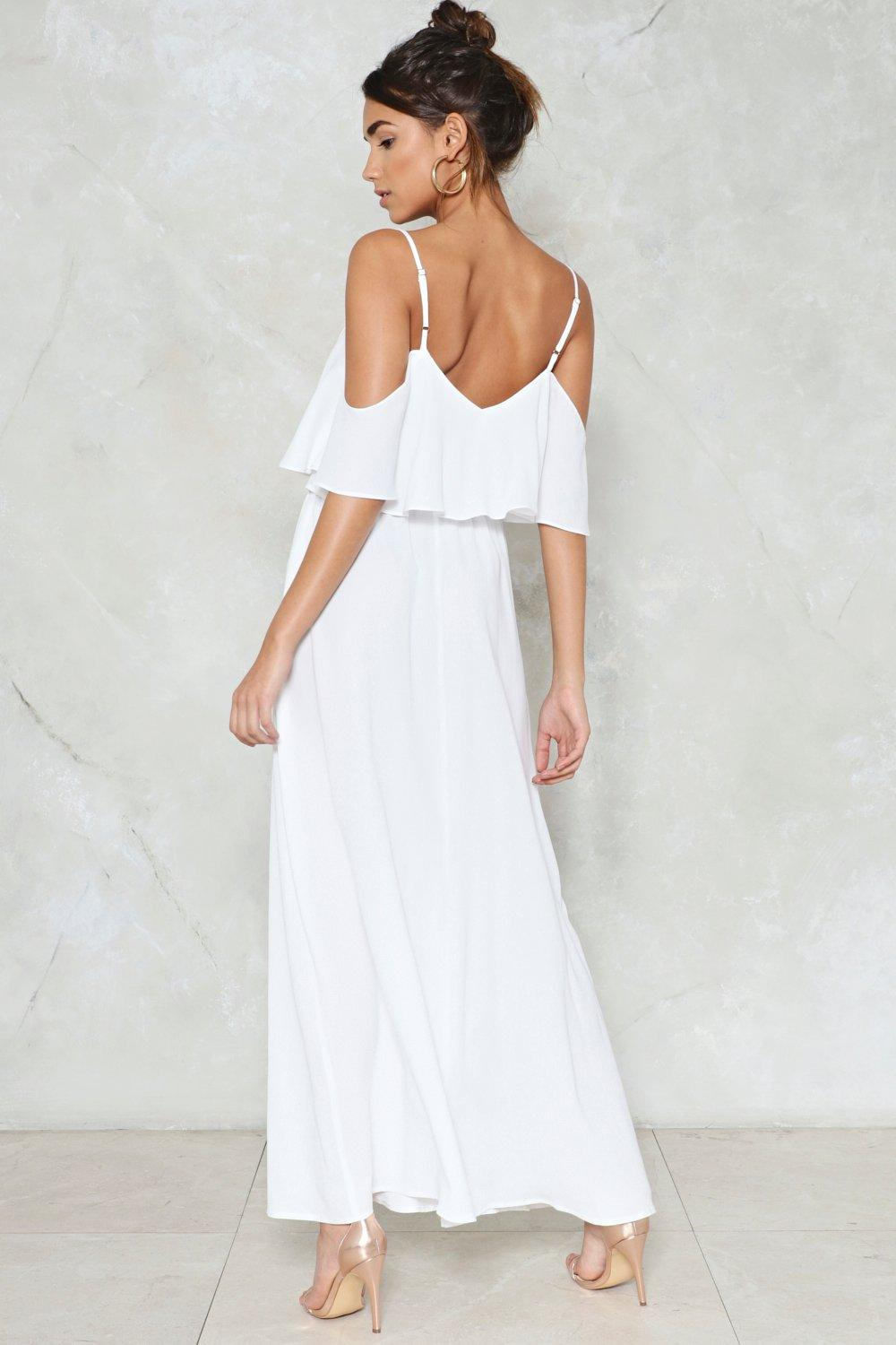 2db357e9e5178 Relaxed to the Maxi Cold Shoulder Dress