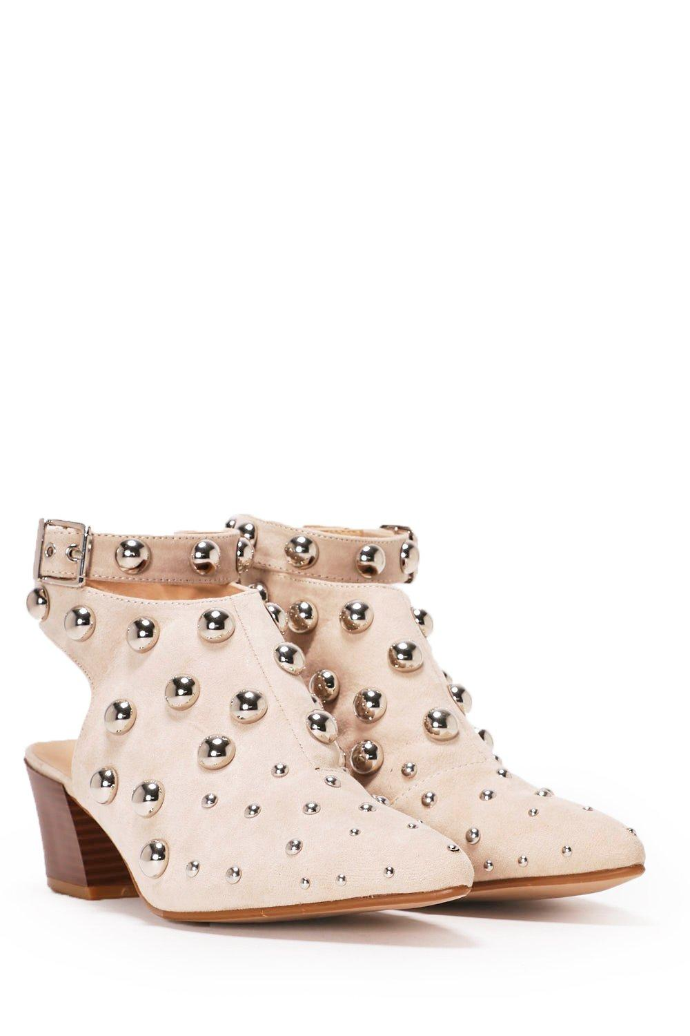 Balls To The Wall Studded Ankle Boot Shop Clothes At Nasty Gal Slingback Leather Boots