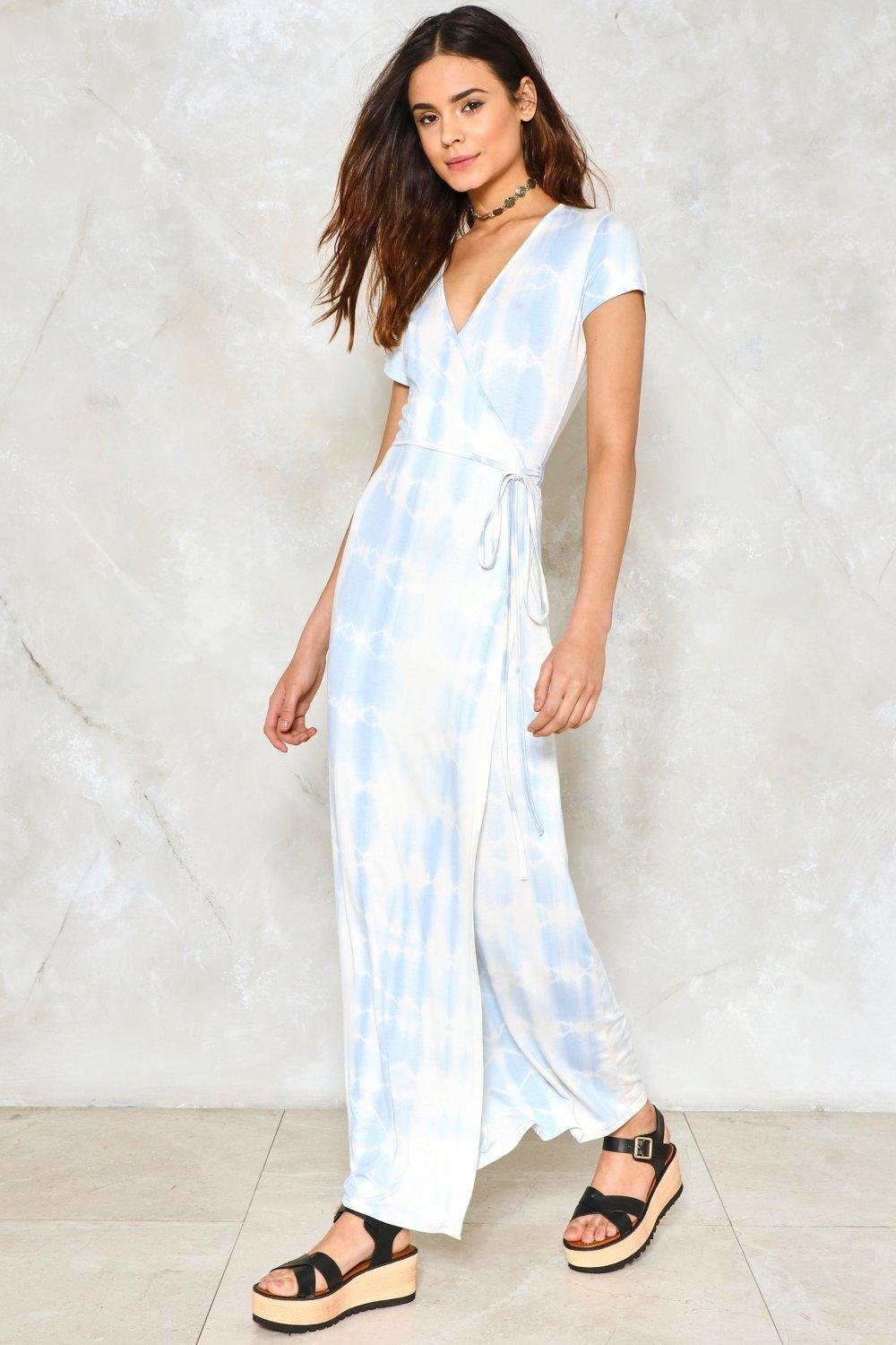 635c67fec9 Womens Sky Tie-Dye For Maxi Dress