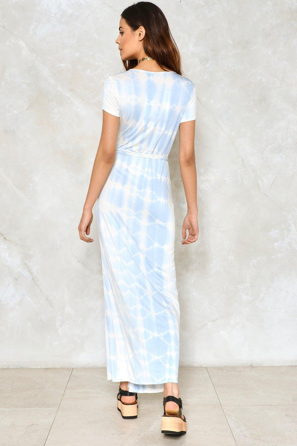 f3755a1df4 Womens Sky Tie-Dye For Maxi Dress.