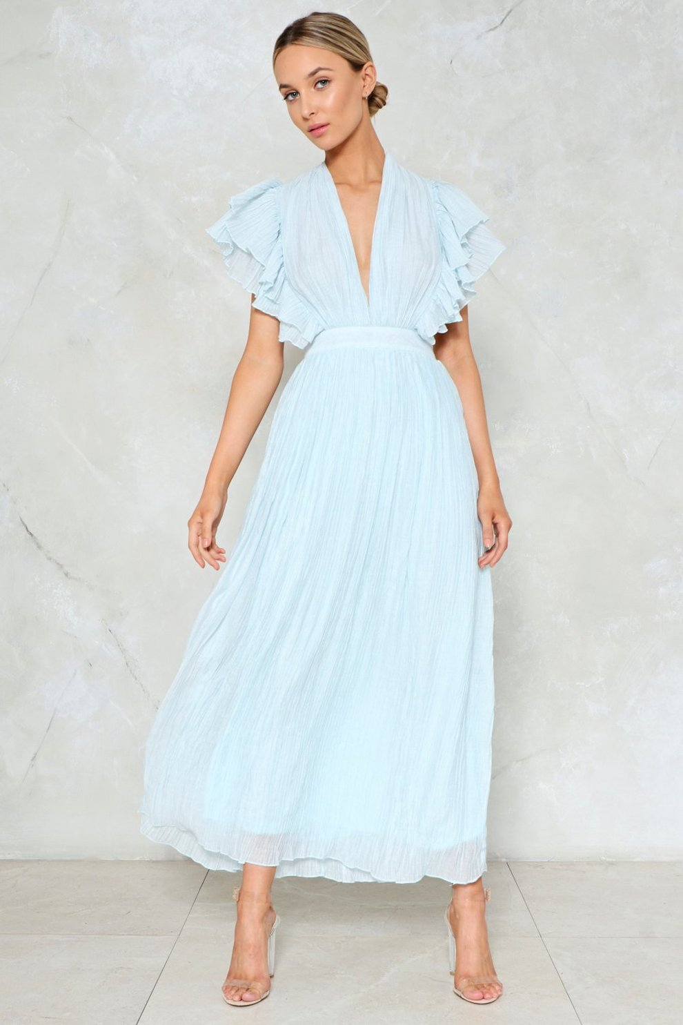 02a39ee37f The Pleat is On Maxi Dress