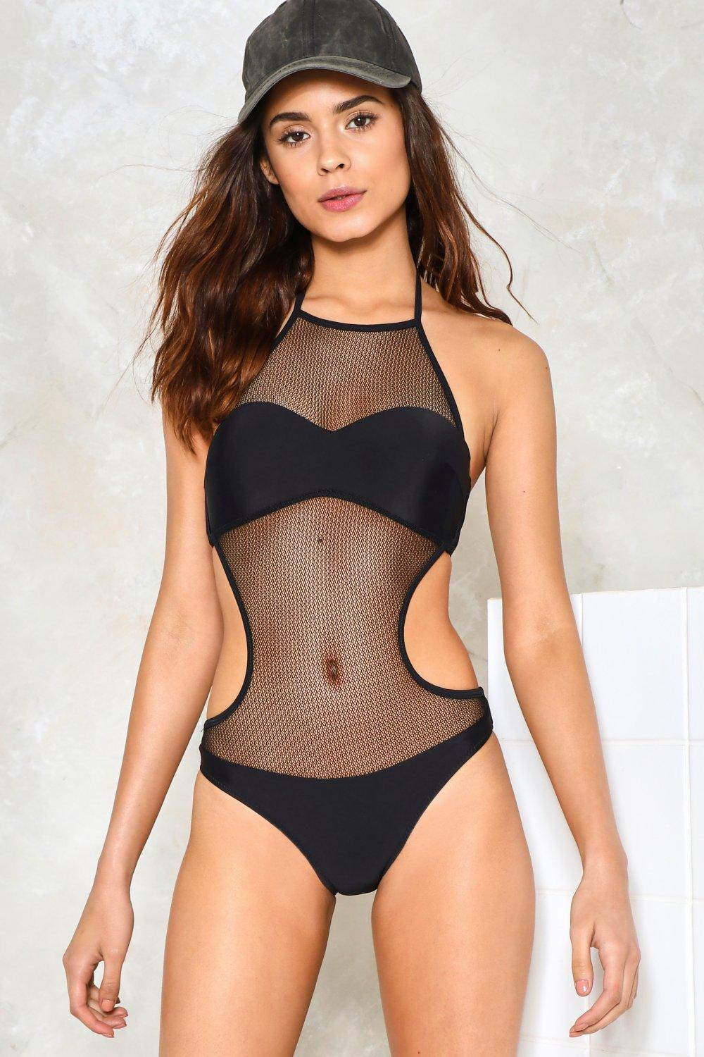 What You See Mesh Swimsuit